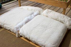 Balcony seat cushions